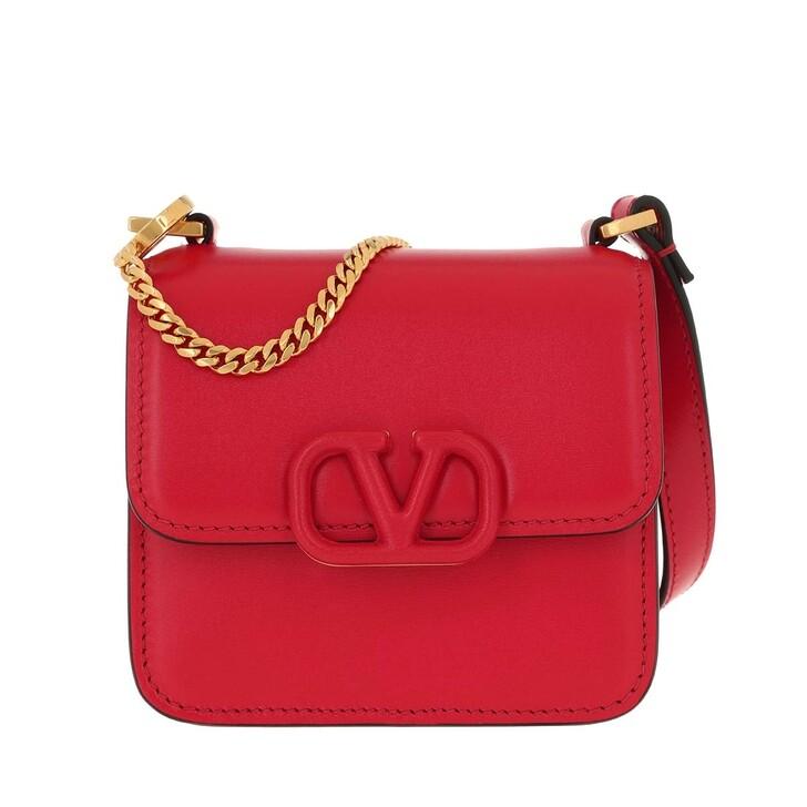 Handtasche, Valentino Garavani, VSLING Mini Crossbody Bag Calfskin Rouge Pur