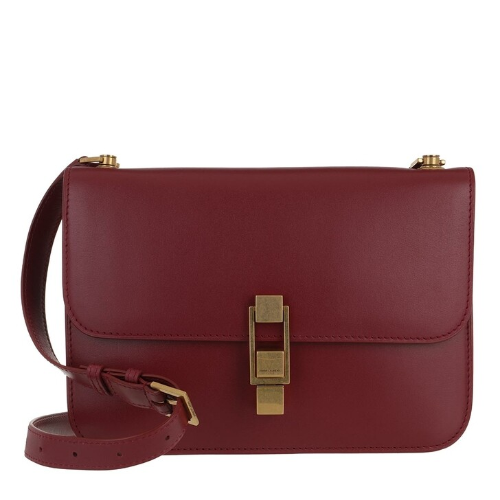 Handtasche, Saint Laurent, Carree Crossbody Bag Leather Opyum Red