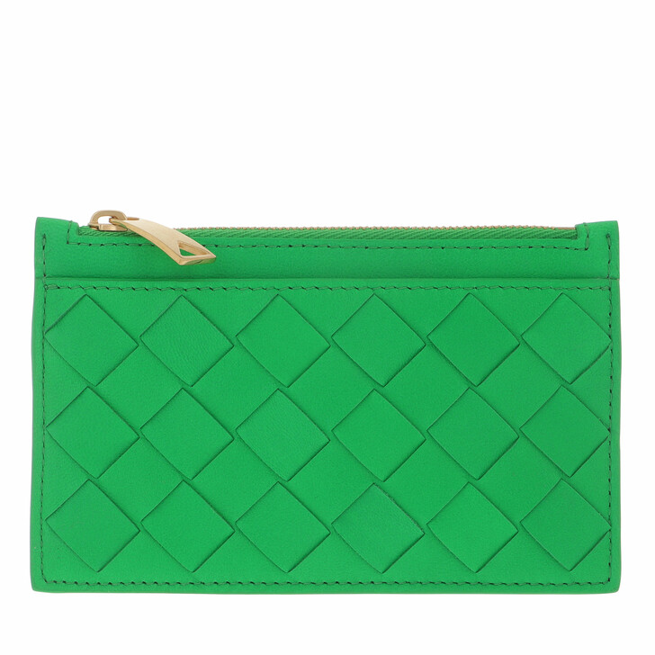 wallets, Bottega Veneta, Intrecciato Wallet Green