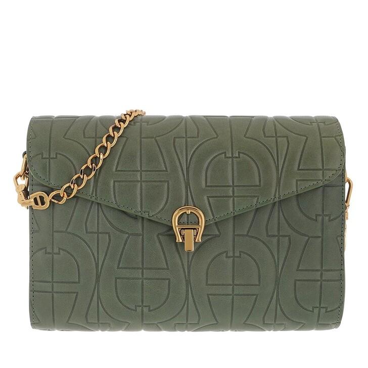 bags, AIGNER, Pria Crossbody Bag Dusty Green