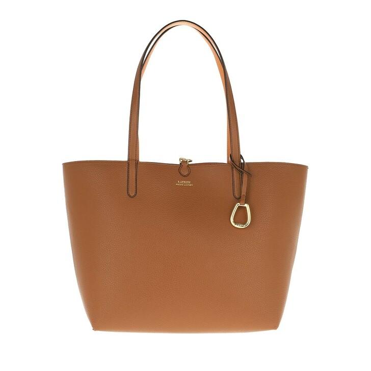 Handtasche, Lauren Ralph Lauren, Reversible Tote Medium Lauren Tan/Orange