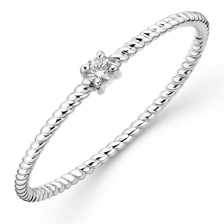 rings, DIAMADA, 9K Ring with Diamond White Gold