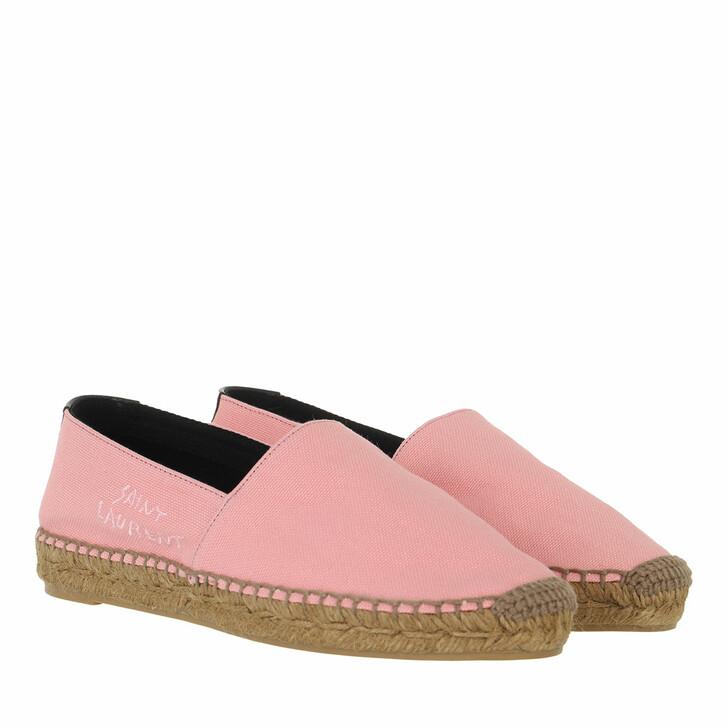 shoes, Saint Laurent, Embroidered Espadrilles Canvas Eros Pink