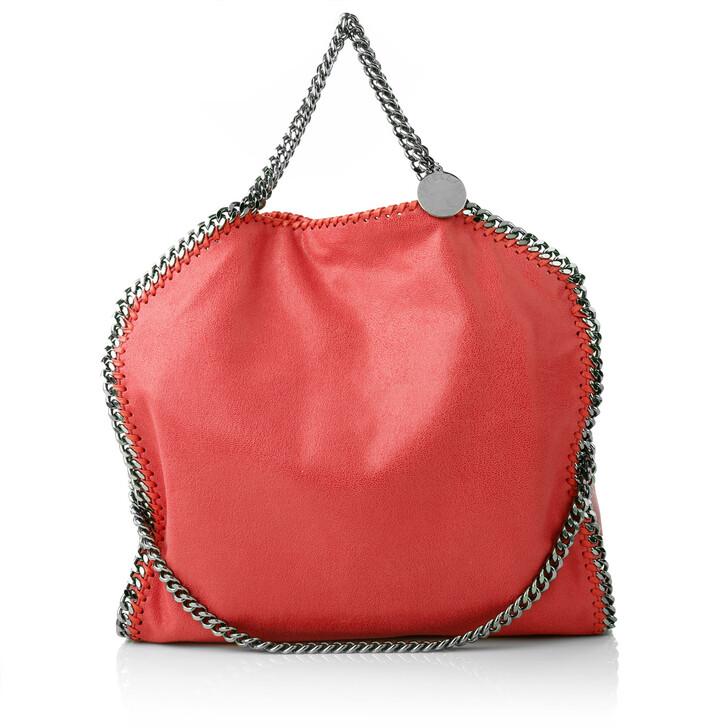 Handtasche, Stella McCartney, Falabella Shaggy Deer Fold Over Tote Red