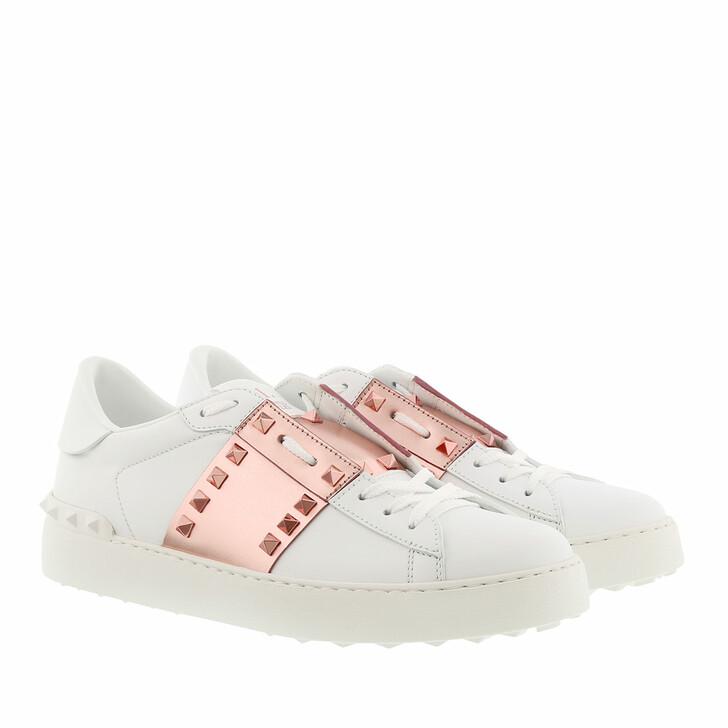 Schuh, Valentino Garavani, Open Sneakers White/Gold