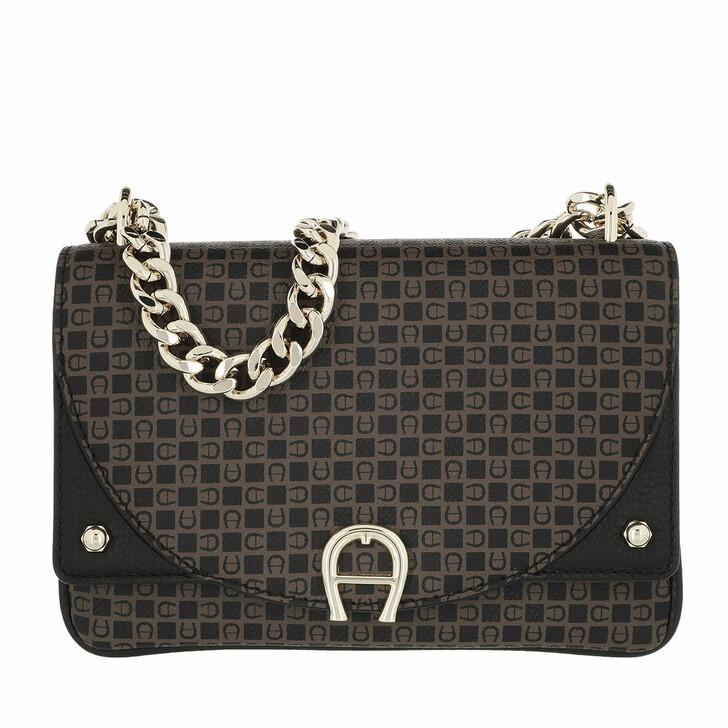 bags, AIGNER, Diadora Mini Bag Dadino Brown