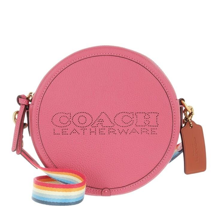 bags, Coach, Colorblock Leather Penn Circle Bag B4/Rouge