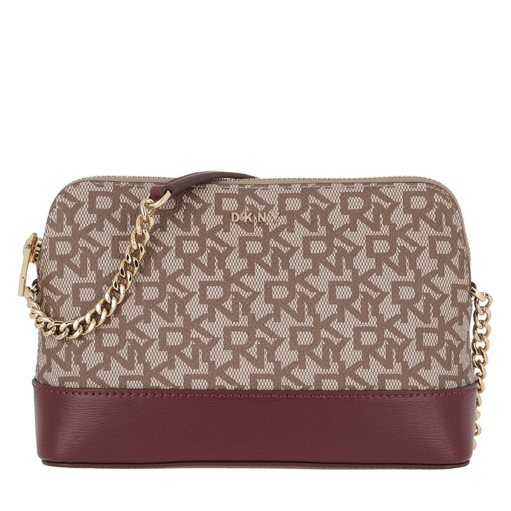 Handtasche, DKNY, Bryant Crossbody Bag Chino Logo/Aged Wine