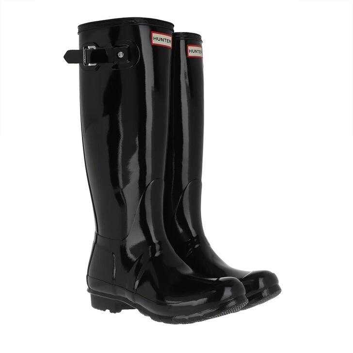 Schuh, Hunter, Womens Original Tall Gloss Black