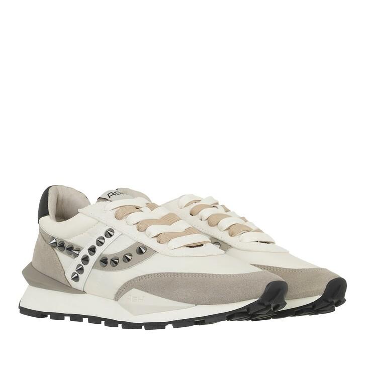 shoes, Ash, Spiderstud                                         Suede Seta White Gardenia