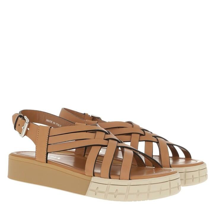 Schuh, Prada, Sandals Calf Leather Naturale