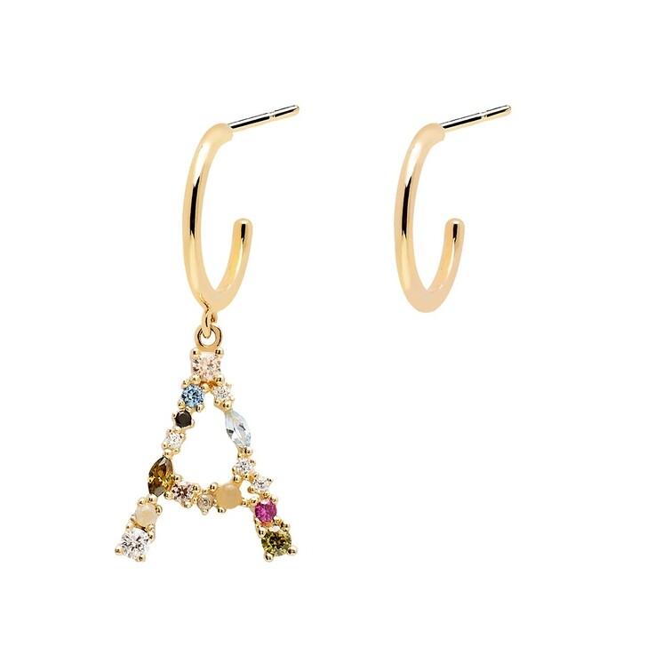 earrings, PDPAOLA, A Earring Yellow Gold