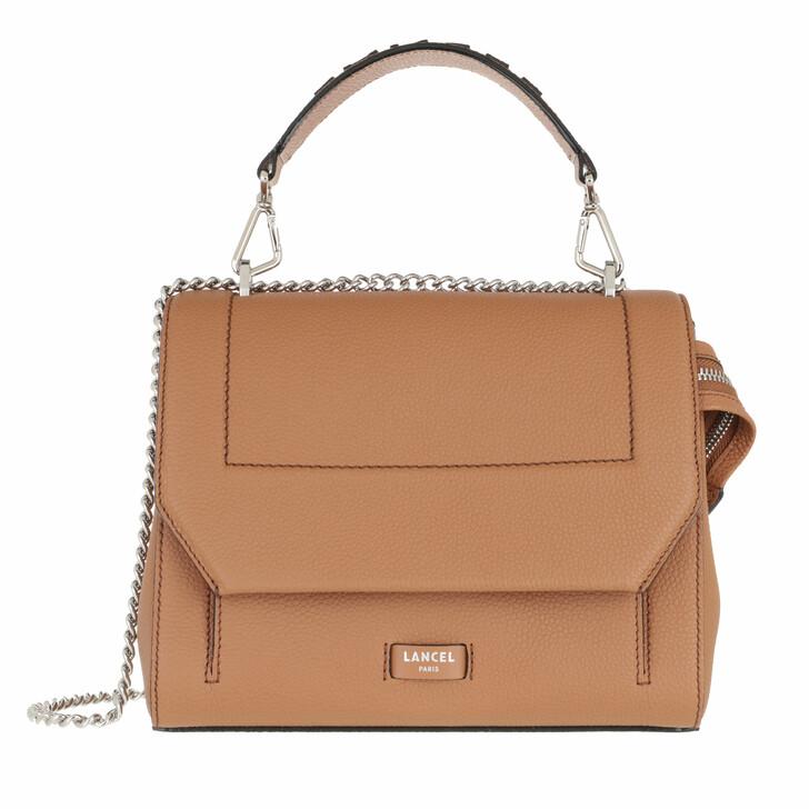 bags, Lancel, Flap Bag M Camel