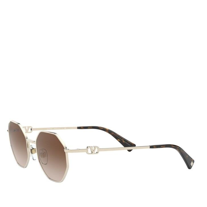 Sonnenbrille, Valentino, METALL WOMEN SONNE PALE GOLD