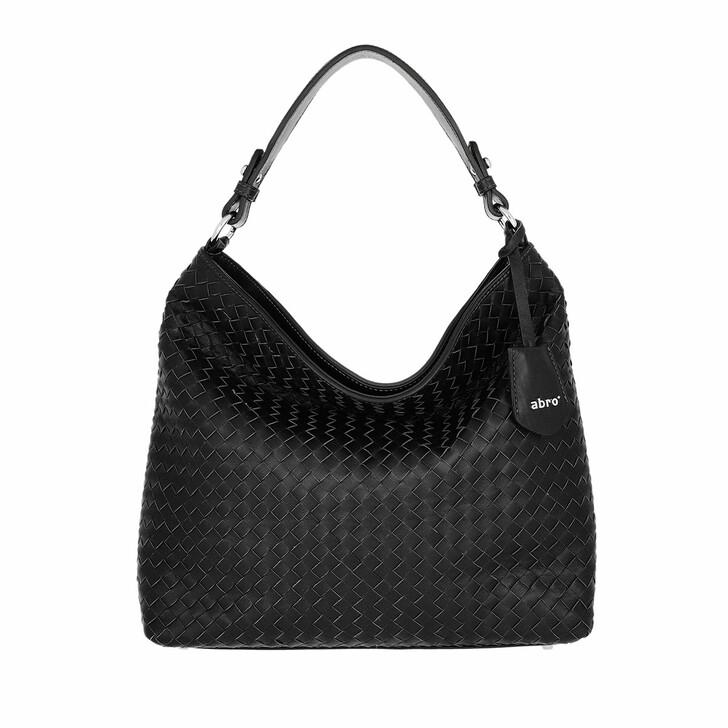 Handtasche, Abro, Bucket Bag Elvi Small Black Nickel