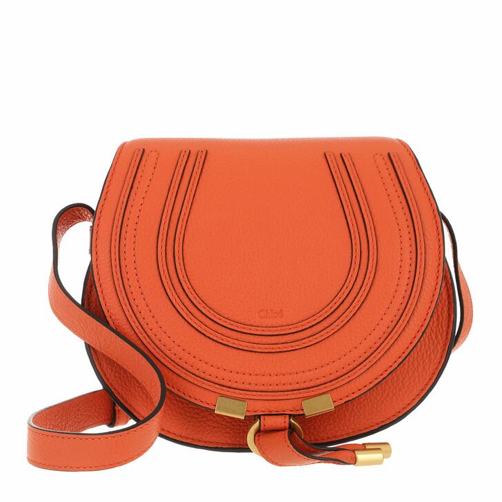 bags, Chloé, Small Marcie Shoulder Bag Grained Leather Arrancione
