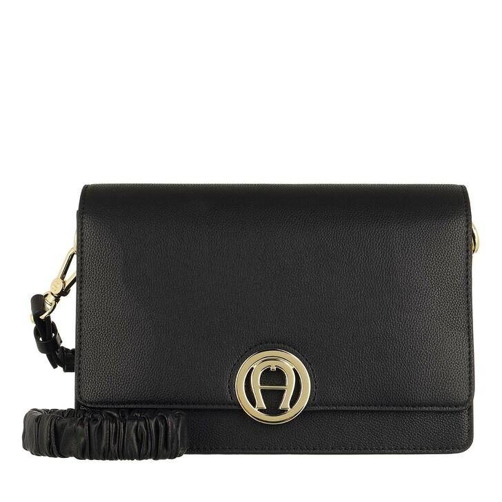 Handtasche, AIGNER, Livia Handle Bag Black