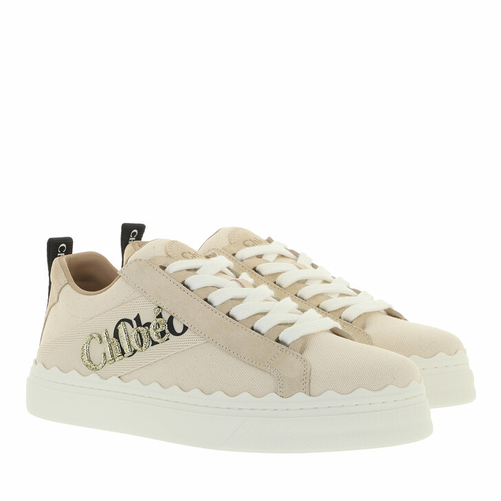 shoes, Chloé, Lauren Sneakers Leather White