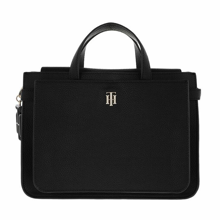 Handtasche, Tommy Hilfiger, TH Soft Satchel Bag Black