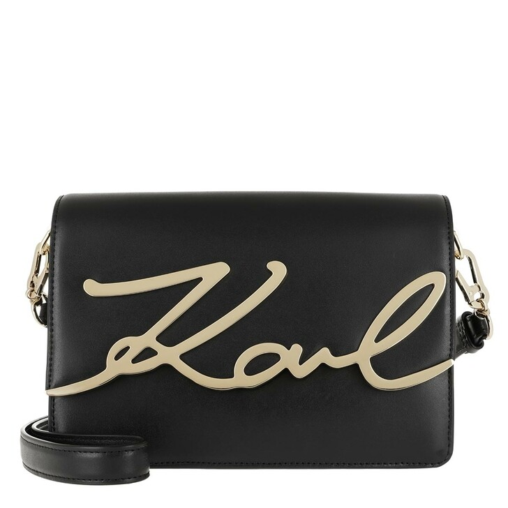 Handtasche, Karl Lagerfeld, Signature Shoulderbag Black/Gold