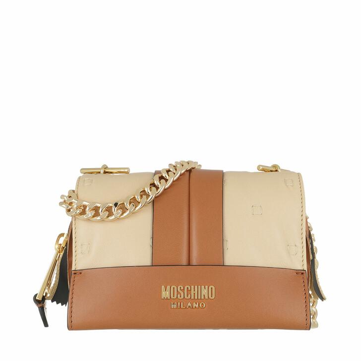 Handtasche, Moschino, Shoulder Bag Fantasia Beige