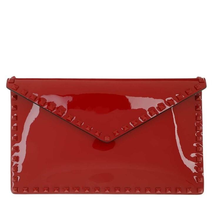 Handtasche, Valentino Garavani, Large Flat Pouch Red