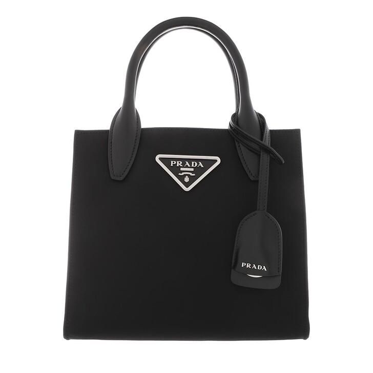 Handtasche, Prada, New Logo Crossbody Leather Black