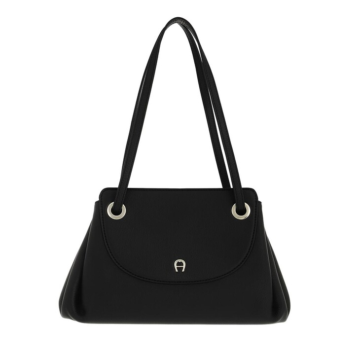 bags, AIGNER, LaPiega Handbag Black