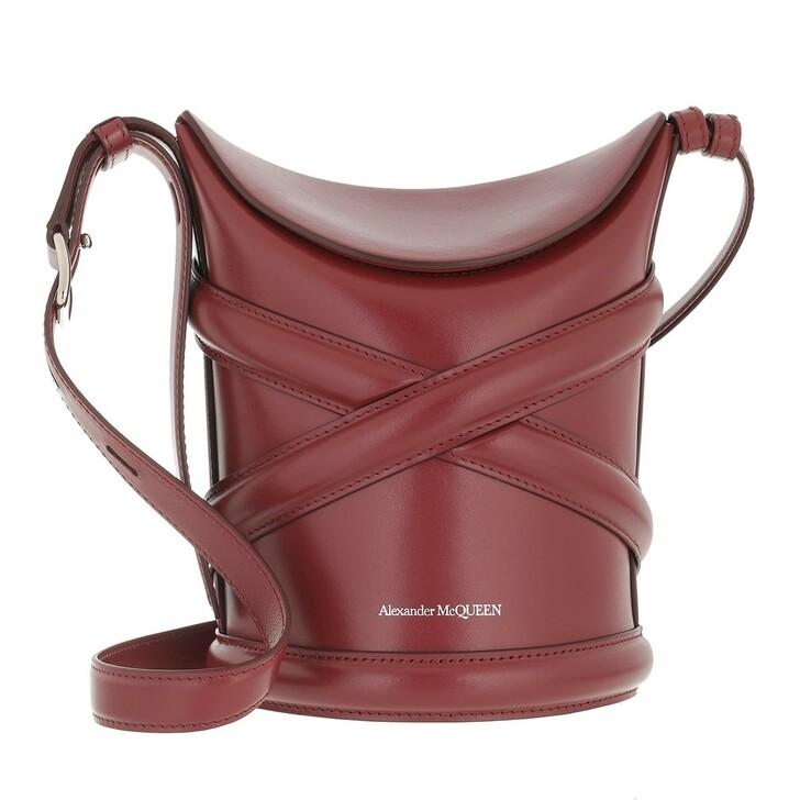 bags, Alexander McQueen, The Curve Shoulder Bag Oxblood
