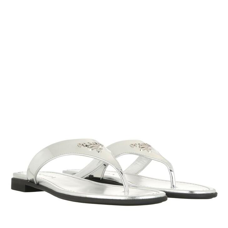Schuh, Prada, Thong Sandals Silver