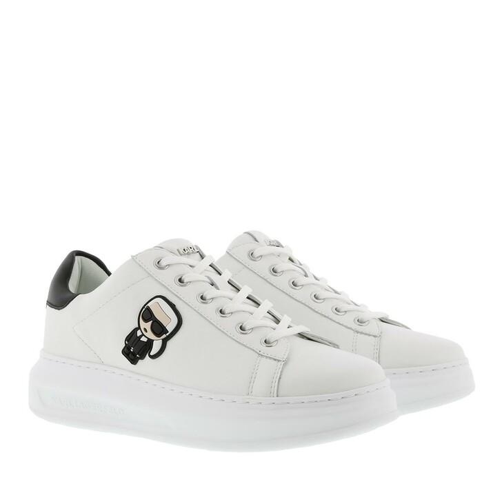 shoes, Karl Lagerfeld, Kapri Karl Ikonic Lo Lace Sneaker White Black