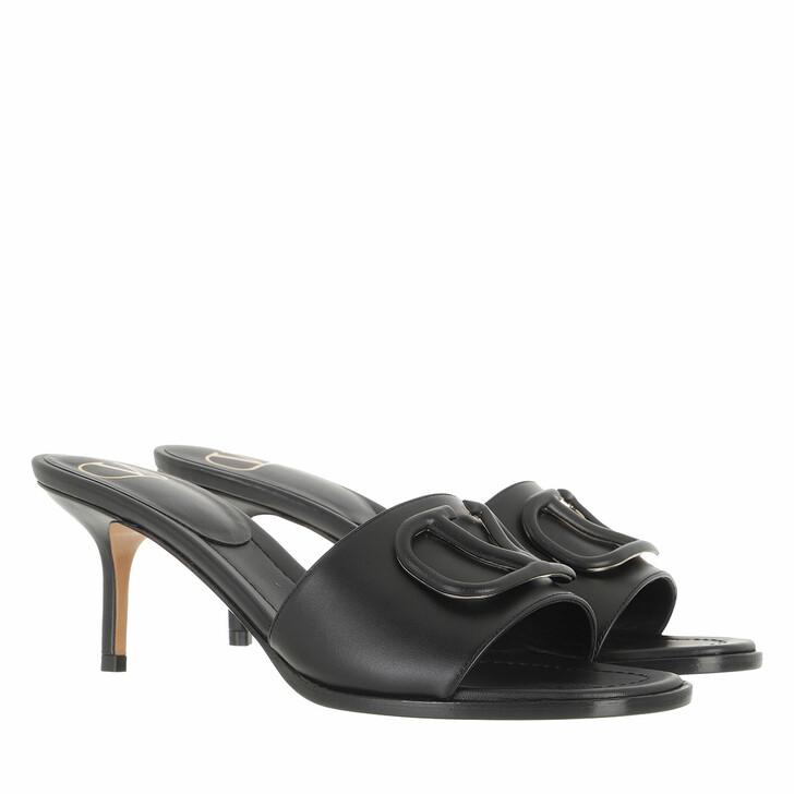 shoes, Valentino Garavani, VLogo Signature Slingback Ballerinas Black