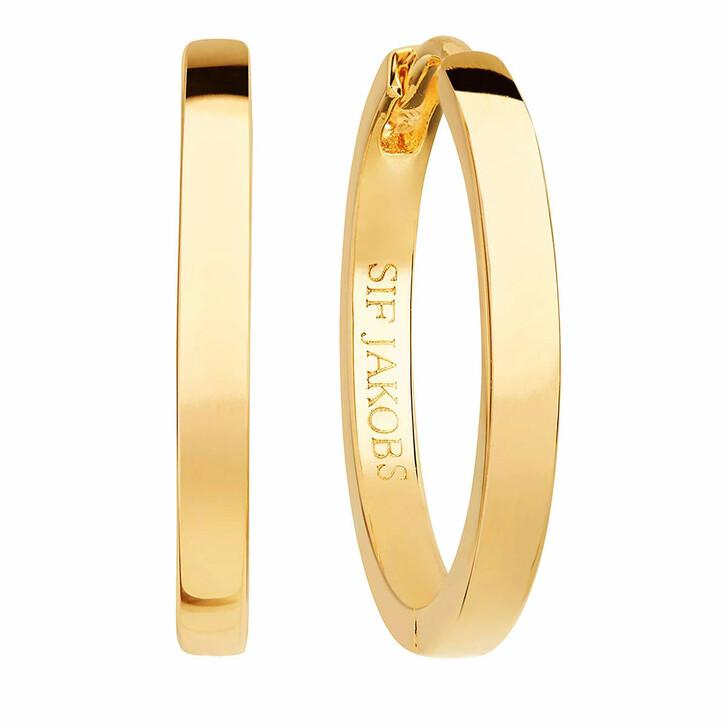 earrings, Sif Jakobs Jewellery, Ellera Pianura Grande Earrings 18K Yellow Gold Plated