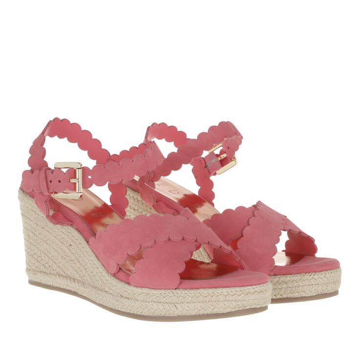 Schuh, Ted Baker, Selanas Metallic Espadrille Wedge Pink