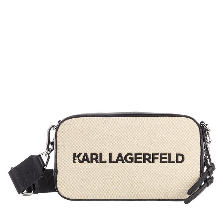 Handtasche, Karl Lagerfeld, Skuare Camera Bag Canvas Natural