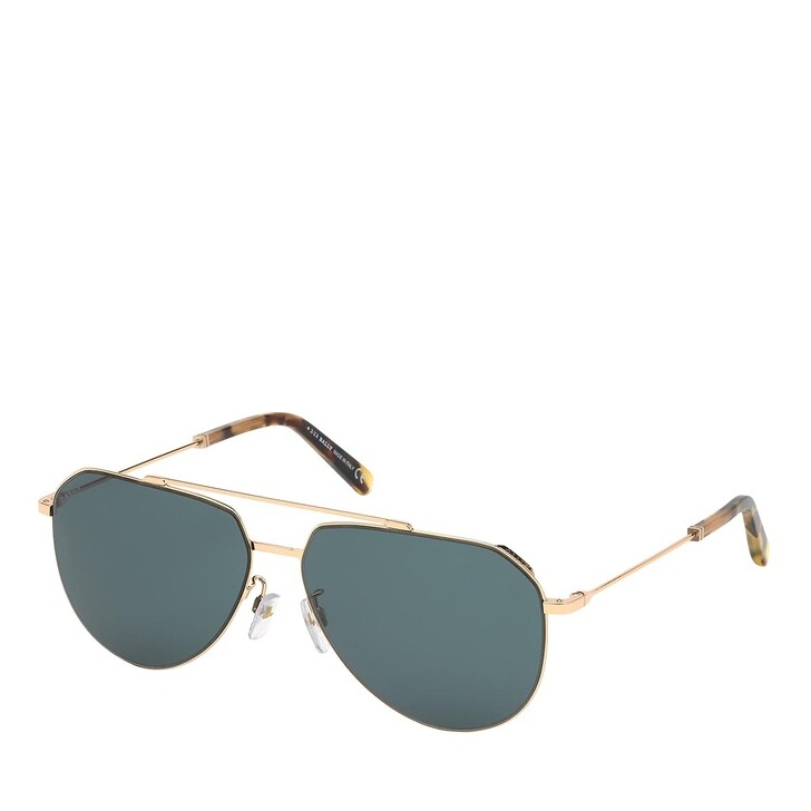 sunglasses, Bally, BY0007-H Shiny Rose Gold/Green