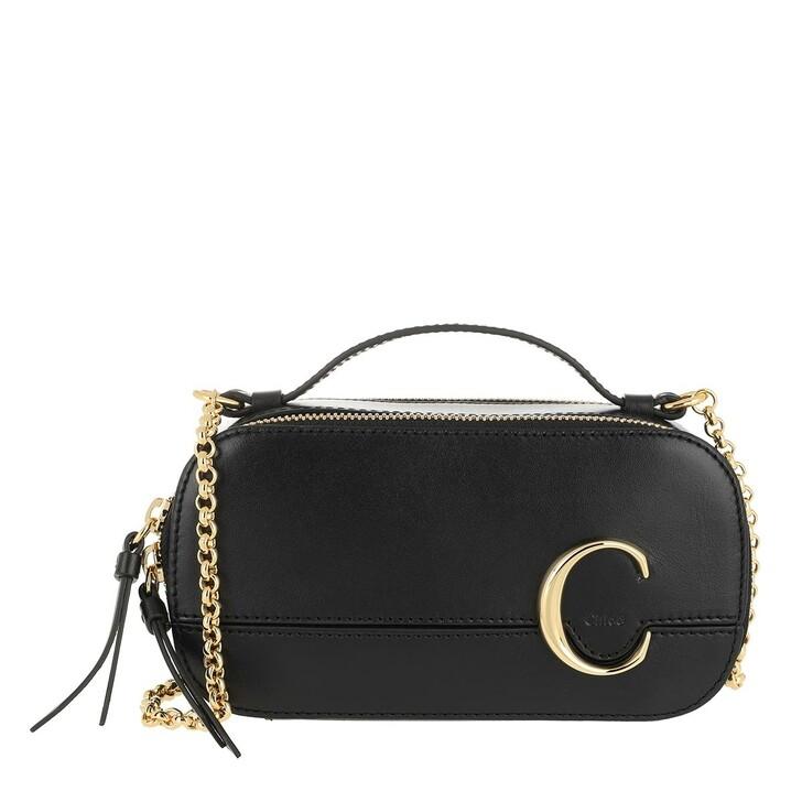 bags, Chloé, C Vanity Mini Crossbody Bag Smooth Leather Black