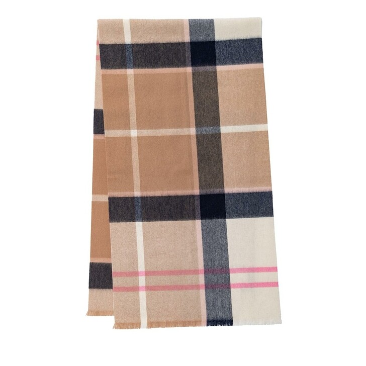 scarves, Barbour, Rosefield Tartan Scarf Pink/Hessian