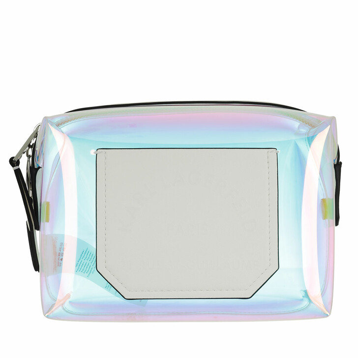 necessaires, Karl Lagerfeld, Journey Hologram Washbag Iridescent