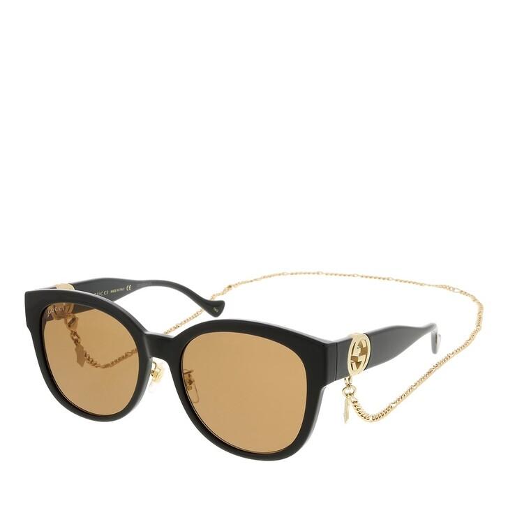 sunglasses, Gucci, GG1028SK-004 56 Sunglass Woman Injection Black-Black-Brown