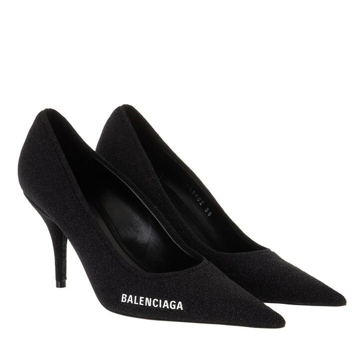 Schuh, Balenciaga, Pumps Black White