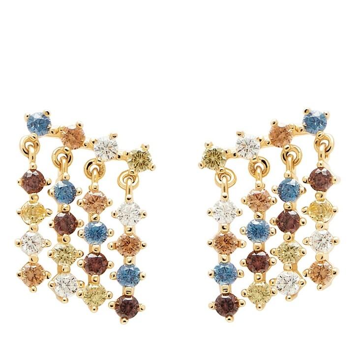 earrings, PDPAOLA, Earrings Willow Yellow Gold