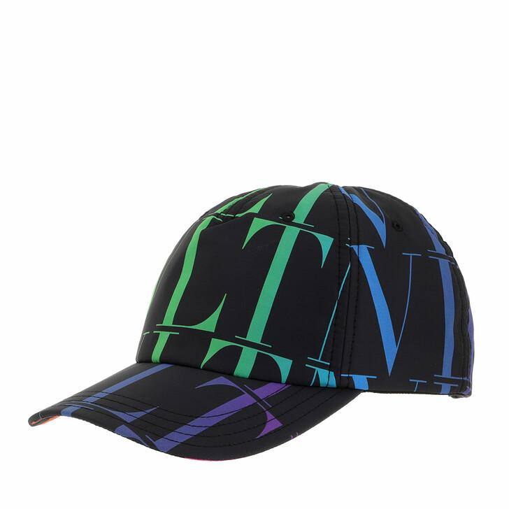 hats, Valentino Garavani, VLTN Printed Baseball Cap Black/Multi