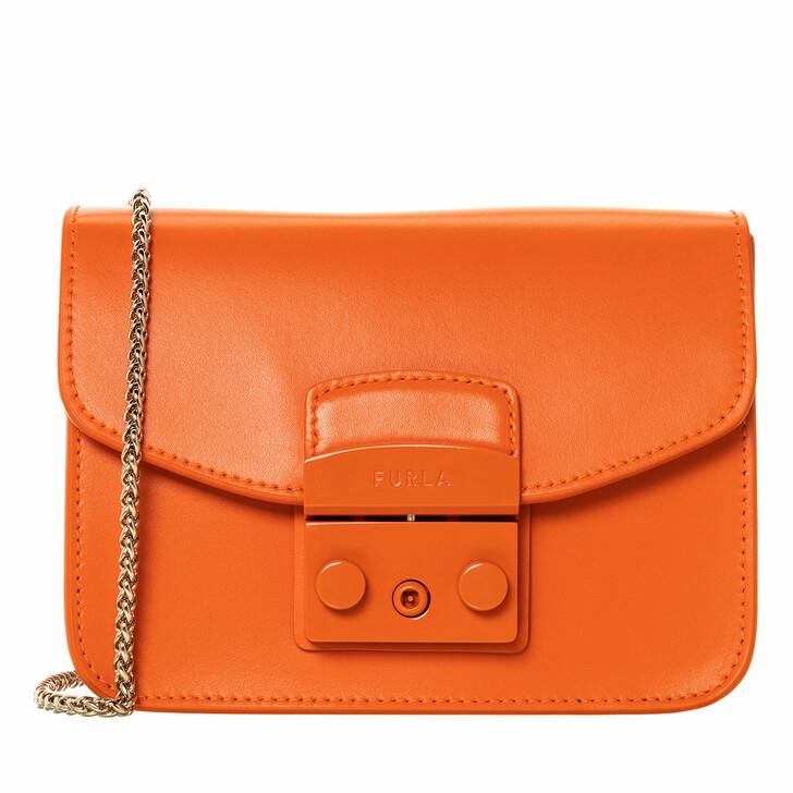 Handtasche, Furla, Metropolis Mini Crossbody Orange