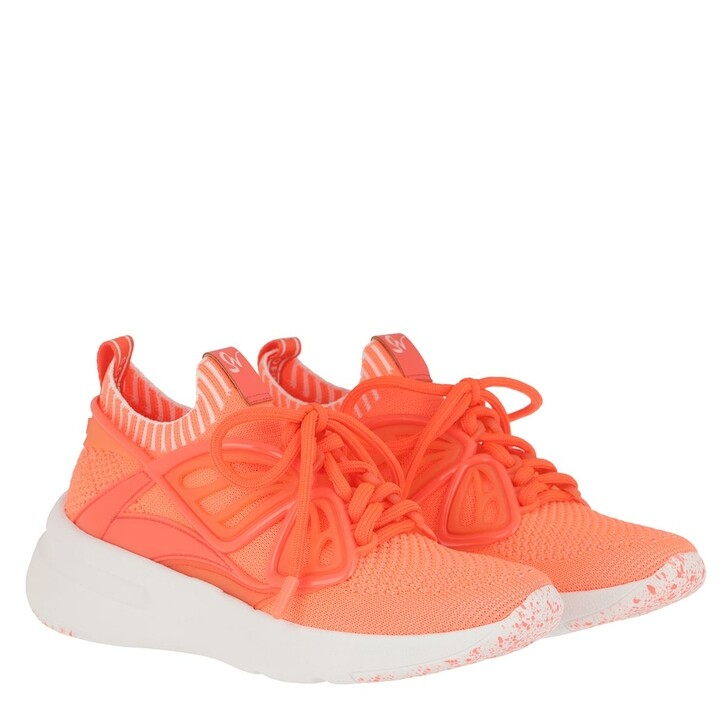 Schuh, Sophia Webster, Fly-By Knit Sneaker Coral