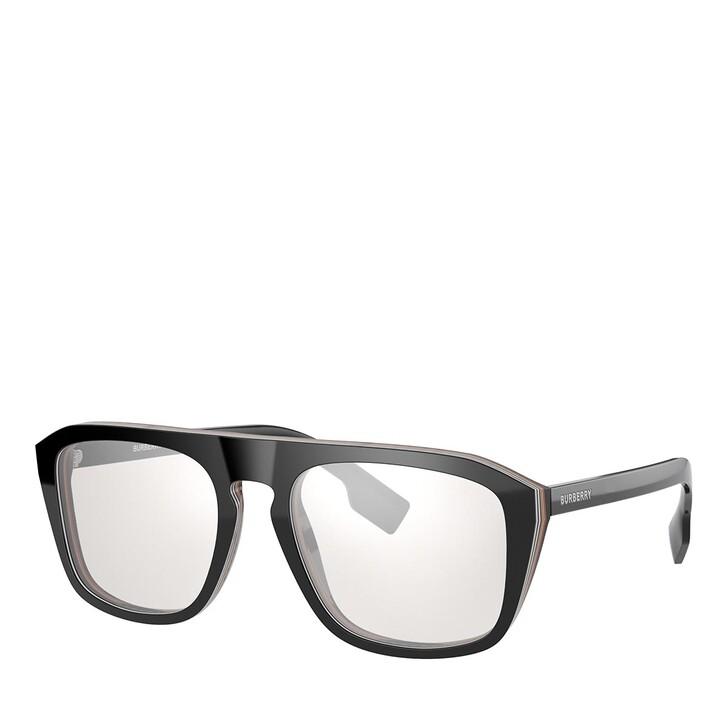 Brillen mit Gläsern, Burberry, Blue Blocker 0BE4286 Check Multilayer Black