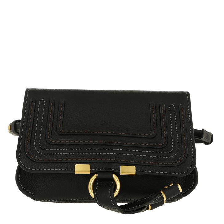 Handtasche, Chloé, Marcie Belt Bag Calfskin Black