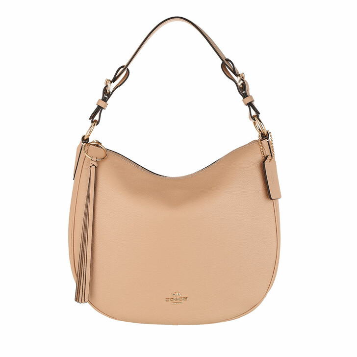 Handtasche, Coach, Pebble Sutton Hobo Bag Leather Beige