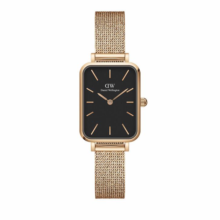 watches, Daniel Wellington, Watch Quadro 20X26 Pressed Melrose Rosegold Black