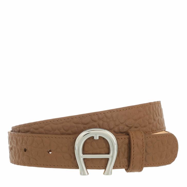 belts, AIGNER, Palermo Belt 3 cm Dark Toffee Brown
